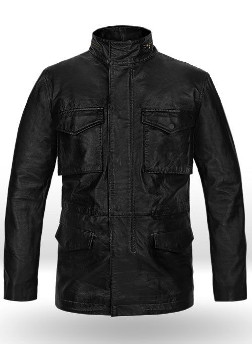 Military M-65 Leather Jacket