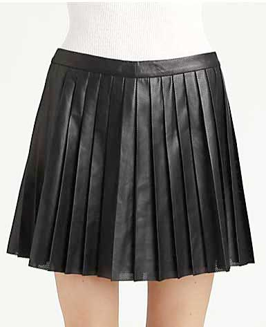 Multi Pleated Leather Skirt - # 142 - 50 Colors