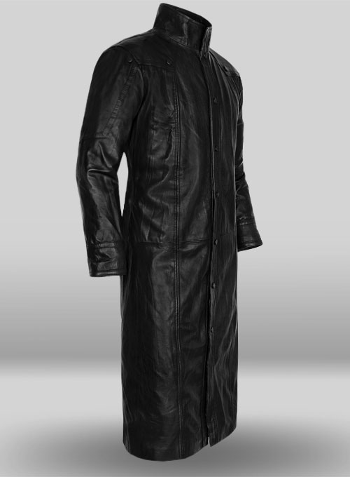 The Avengers Nick Fury Leather Trench Coat - Click Image to Close