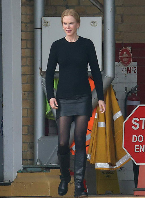 Nicole Kidman Leather Skirt
