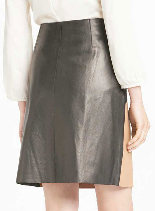 Patchwork Leather Skirt - # 458 - 35 Colors