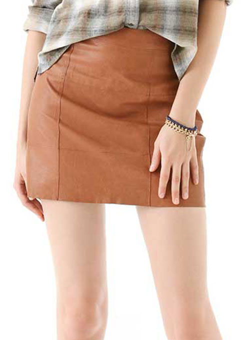 Piping Leather Skirt - # 183 - 50 Colors