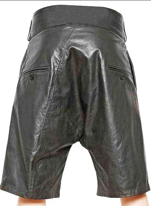 Pleated Leather Shorts Style # 363 - Click Image to Close