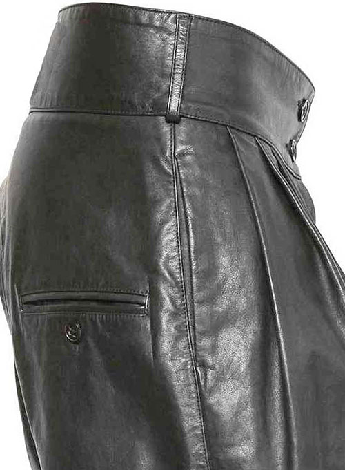 Pleated Leather Shorts Style # 363