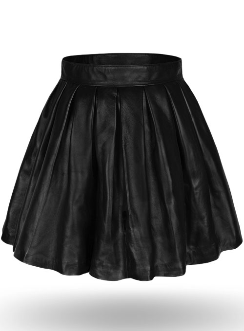 Pleated Leather Skirt - 50 Colors