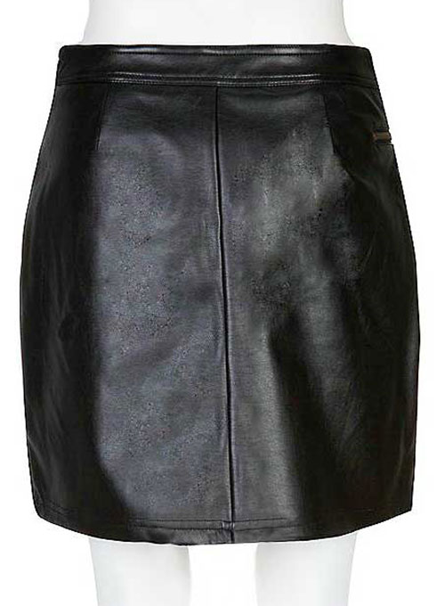 Plum Leather Skirt - # 441 - 50 Colors