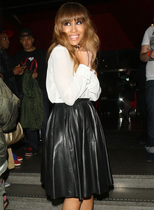 Rebecca Ferguson Leather Skirt