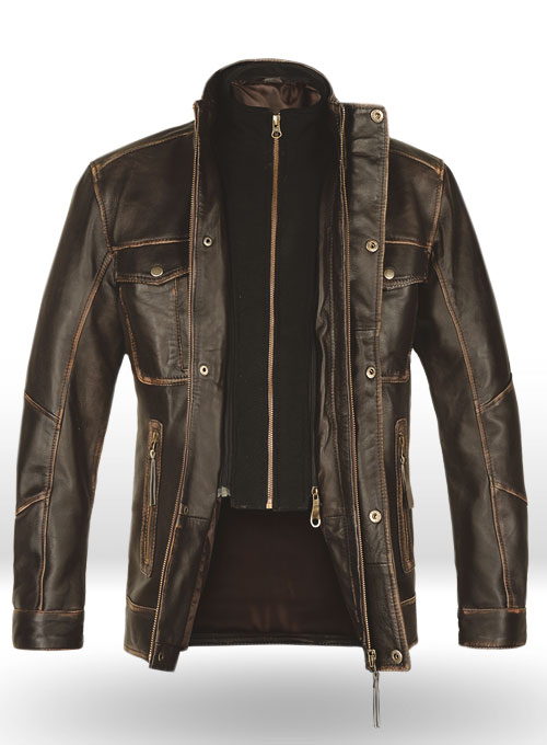 Retro Leather Jacket - Click Image to Close