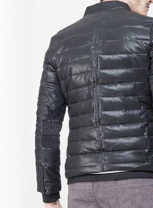 Retro Quilted Leather Jacket # 628 - Click Image to Close