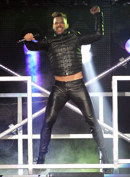 Ricky Martin Leather Pants - Click Image to Close