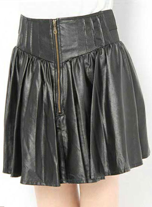 Sauvage Flare Leather Skirt - # 418 - 50 Colors