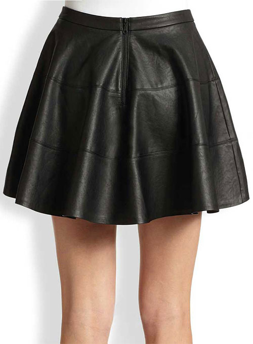 Sculpted Flare Leather Skirt - # 440 - 50 Colors
