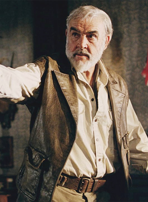 Sean Connery The League of Extraordinary Gentlemen Leather Vest - Click Image to Close