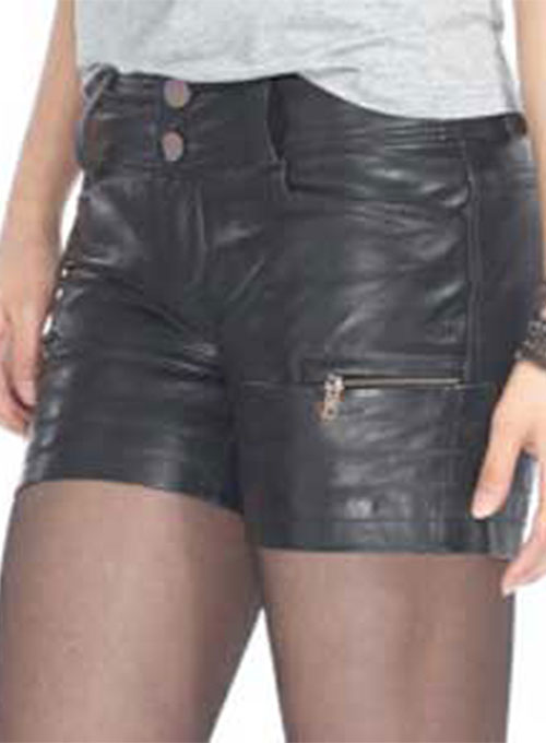 Leather Cargo Shorts Style # 361- 50 Colors