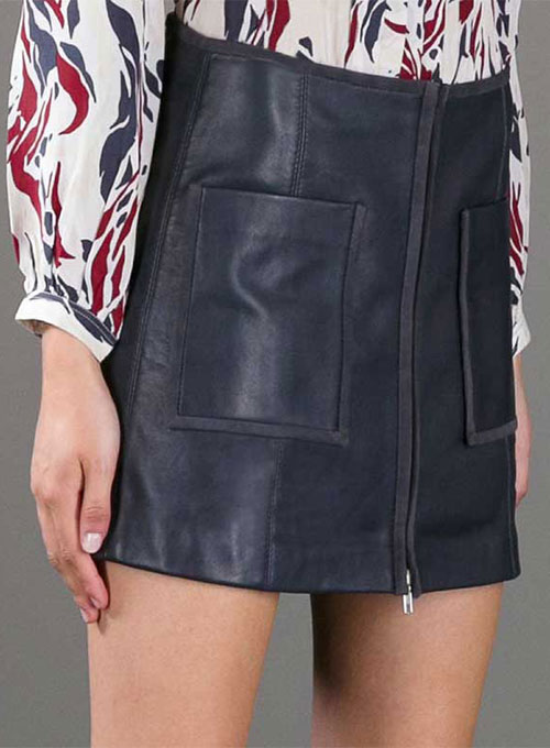 Smoking Piped Leather Skirt - # 425  - 50 Colors