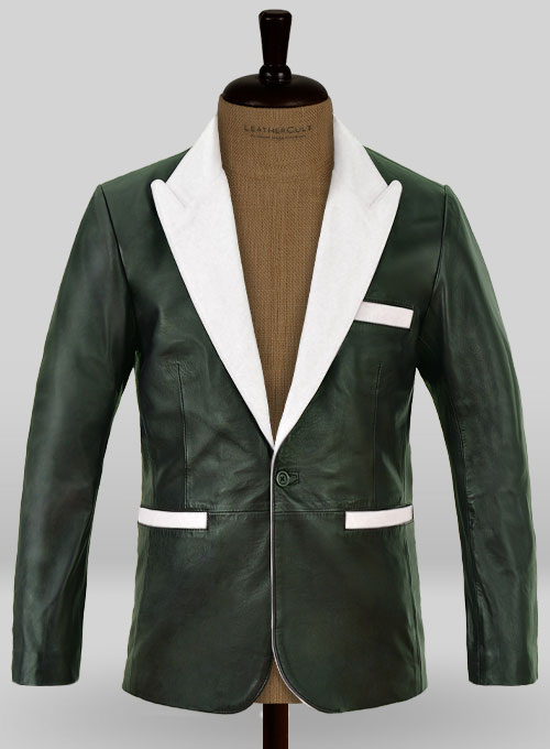 Soft Deep Olive Wax Hampton Leather Blazer