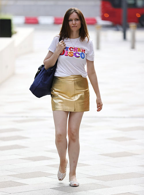 Sophie Ellis Bextor Leather Skirt