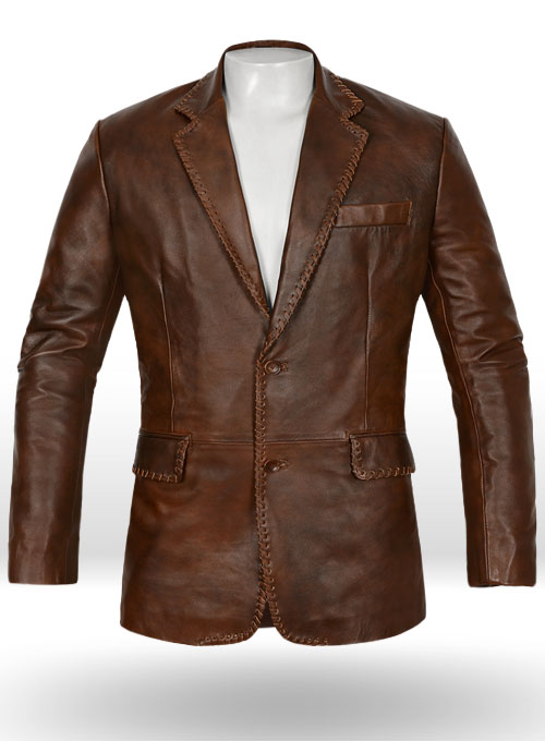 Spanish Brown Medieval Leather Blazer