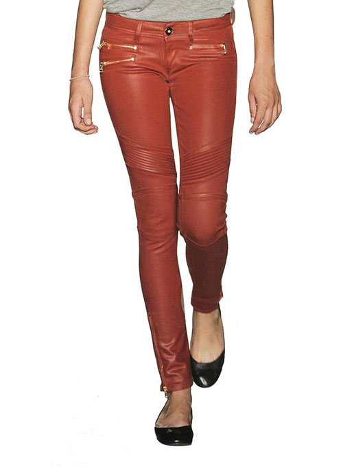 Stiletto Leather Pants - 50 Colors