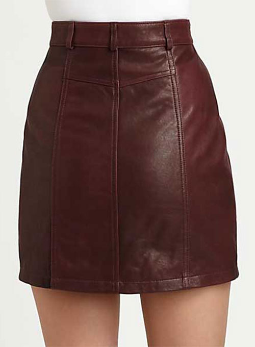 Stylish Leather Skirt - # 148 - 50 Colors