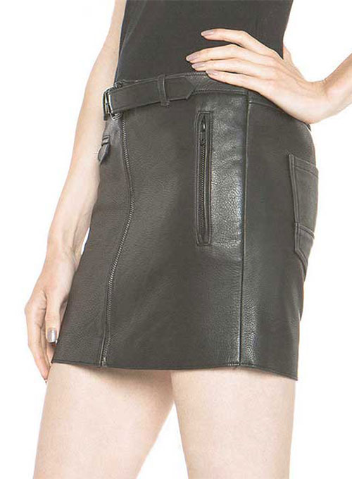 Sweet Revenge Leather Skirt - # 427
