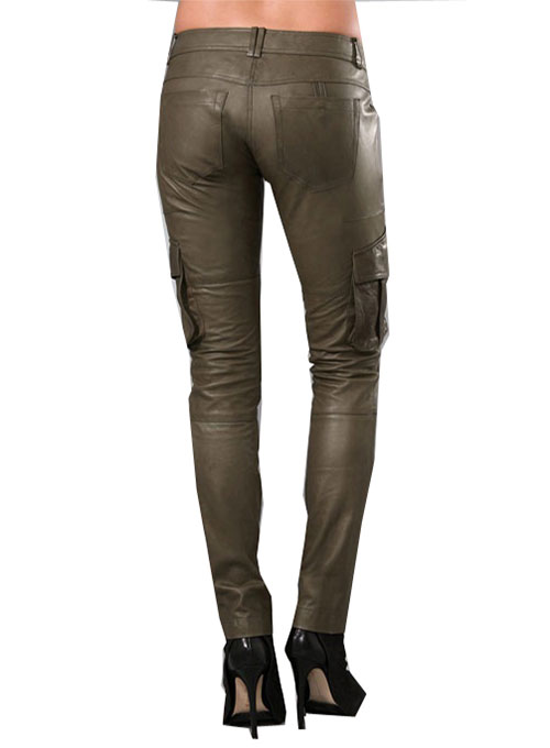 Leather  Trooper Cargo Pants