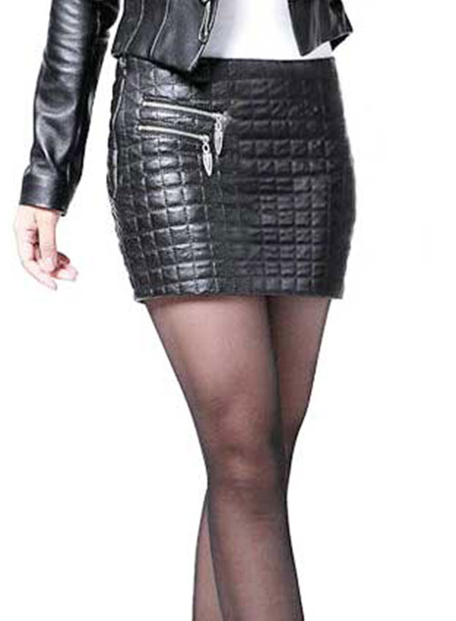 Turtle Leather Skirt - # 186 - Click Image to Close