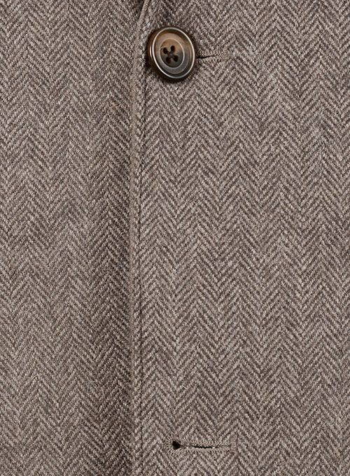 Tweed Leather Combo Blazer # 652 - Click Image to Close