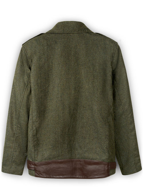 Tweed Leather Combo Jacket # 666 - Click Image to Close