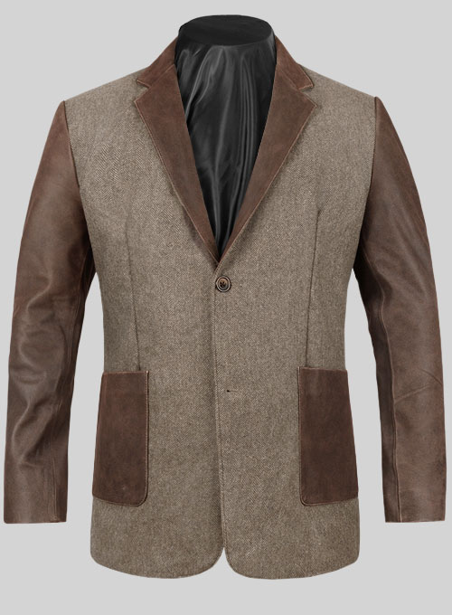 Tweed Leather Combo Blazer # 652