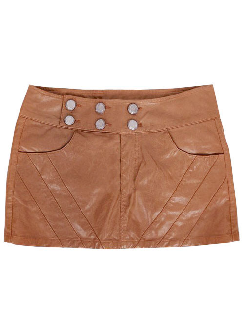 Twiggy Leather Skirt - # 128