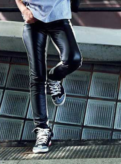 Twin Side Leather Pants