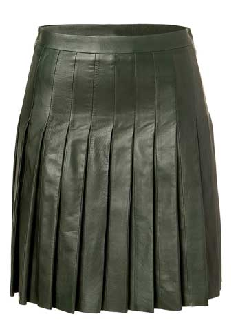 Twisty Leather Skirt - # 146 - 50 Colors