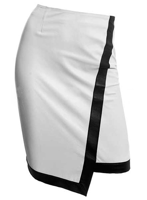 Two Toned Leather Skirt - # 149 - 35 Colors