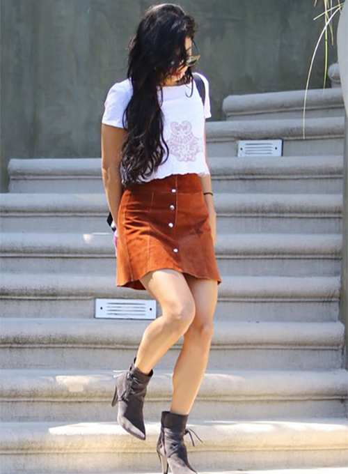 Vanessa Hudgens Leather Skirt