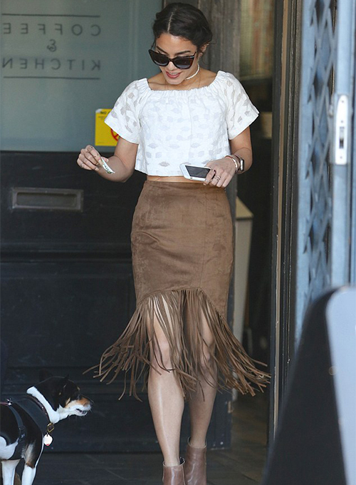 Vanessa Hudgens Leather Skirt #2