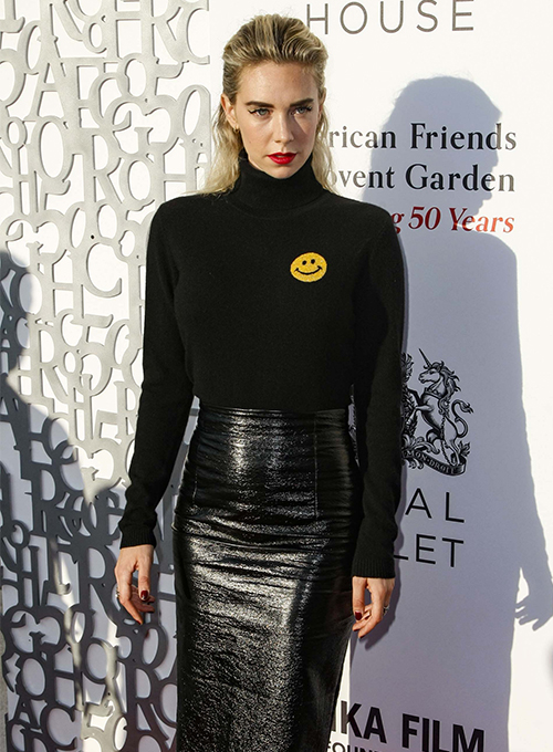 Vanessa Kirby Leather Skirt