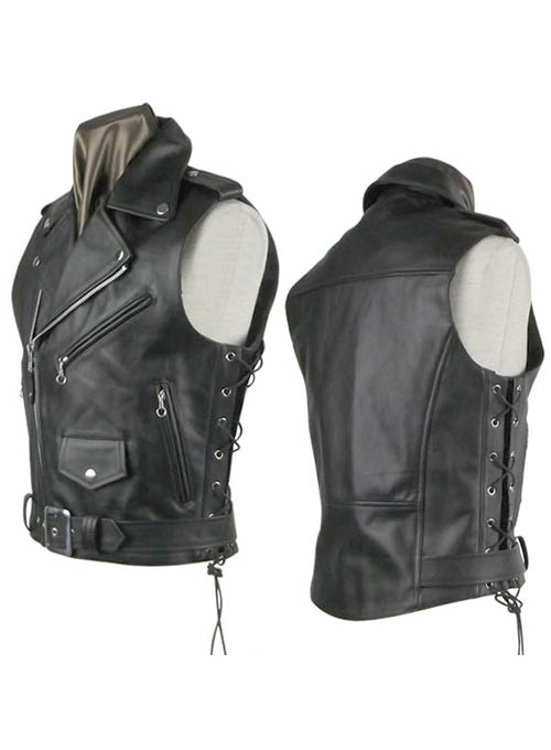 Leather Biker Vest # 308 - 50 Colors