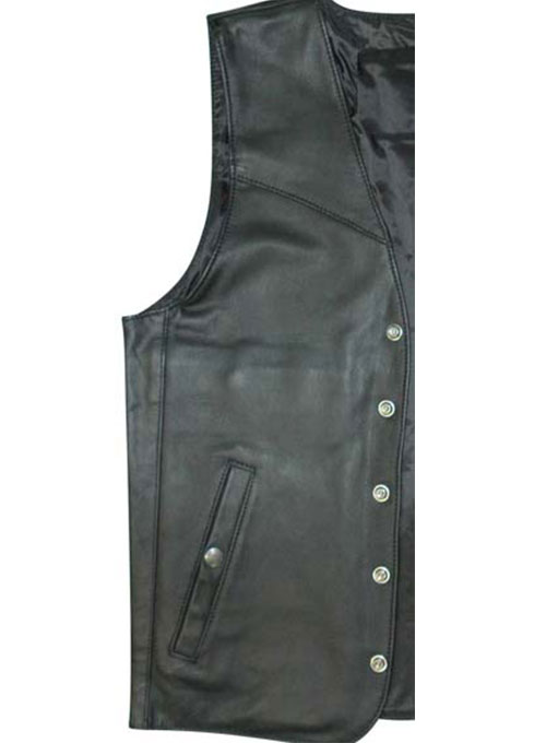 Leather Vest # 303 - 50 Colors