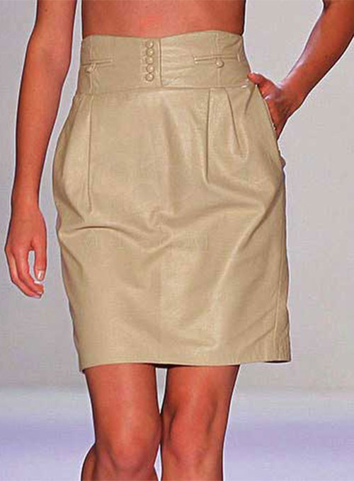 Vintage Leather Skirt - # 459 - 50 Colors