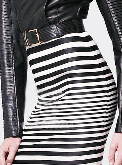 Zebra Leather Skirt - # 192 - 35 Colors
