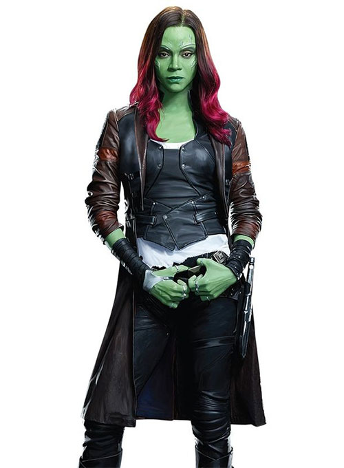 Zoe Saldana Guardians of the Galaxy Vol 2 Leather Coat - Click Image to Close