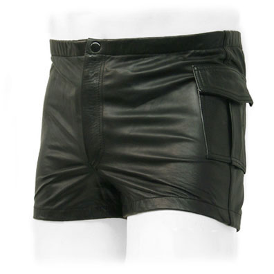 Leather Cargo Shorts - 50 Colors