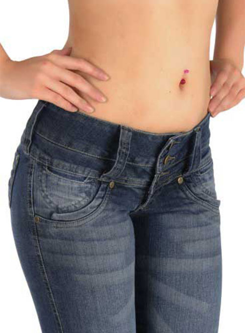 Elastic Waist Jeans For Women