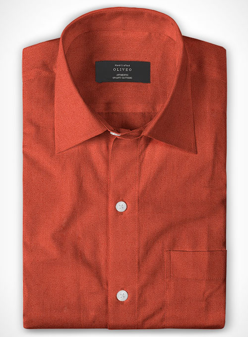 Cotton Stretch Herringbone Spiezi Shirt - Full Sleeves