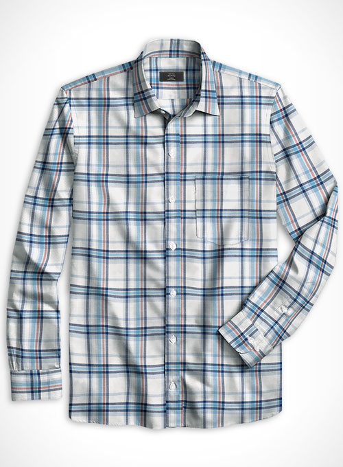 Cotton Stretch Scalzo Shirt - Full Sleeves - Click Image to Close