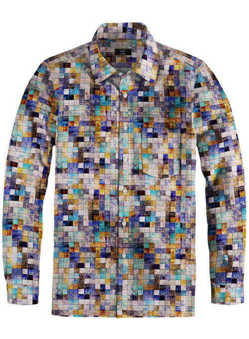 Cotton Vincent Shirt - Full Sleeves - Click Image to Close