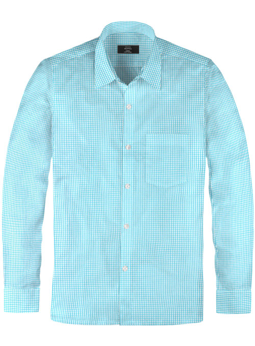Giza Prince Blue Cotton Shirt - Click Image to Close