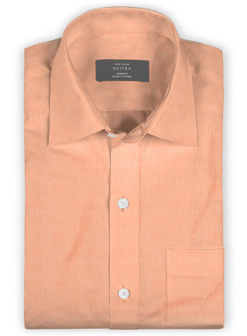 Giza Summer Orange Cotton Shirt- Full Sleeves