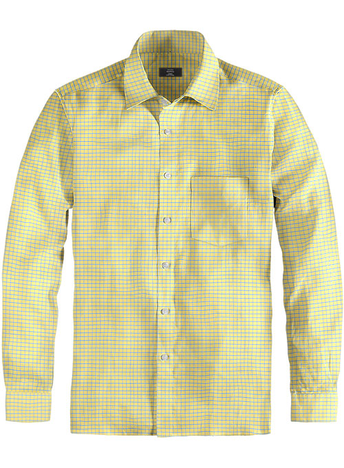 Giza Voila Checks Cotton Shirt - Full Sleeves - Click Image to Close